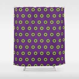 Fishman Donuts Purple and Green Small Shower Curtain