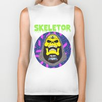 skeletor Biker Tanks featuring Skeletor by Michael Keene