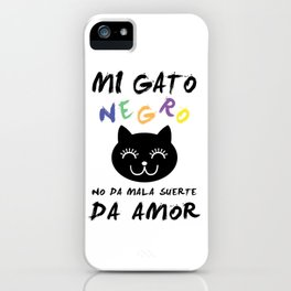 Gato Negro iPhone Case