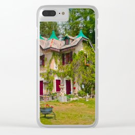 Fairytale Cottage Clear iPhone Case