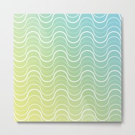 Getting lost in the grooves.  Metal Print