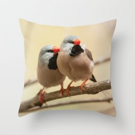Long-tailed finch Throw Pillow