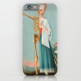 Life and Death Vintage Oil Painting iPhone Case