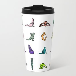 Rainbow Yoga Poses Travel Mug