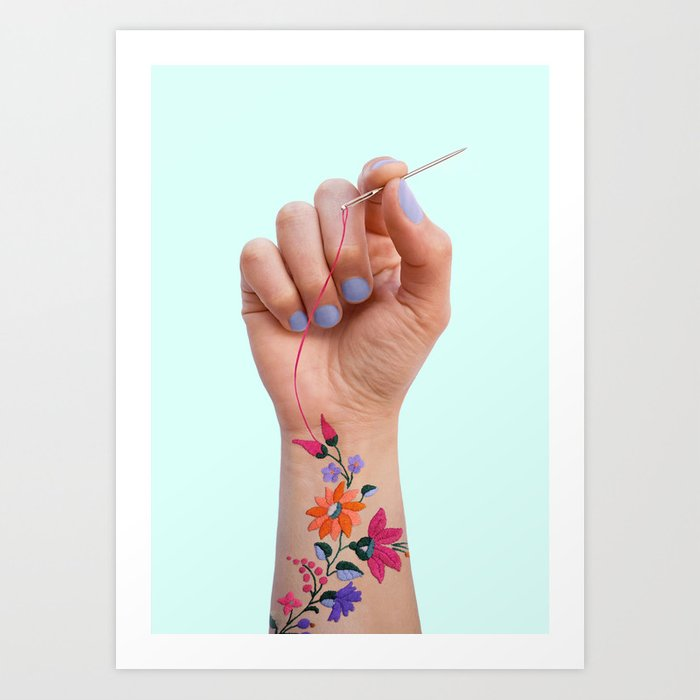SEWING TATTOO Art Print
