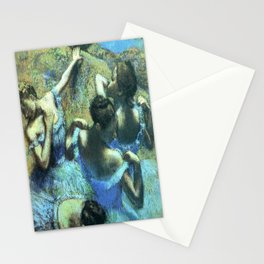 Blue Dancers by Edgar Degas Stationery Cards