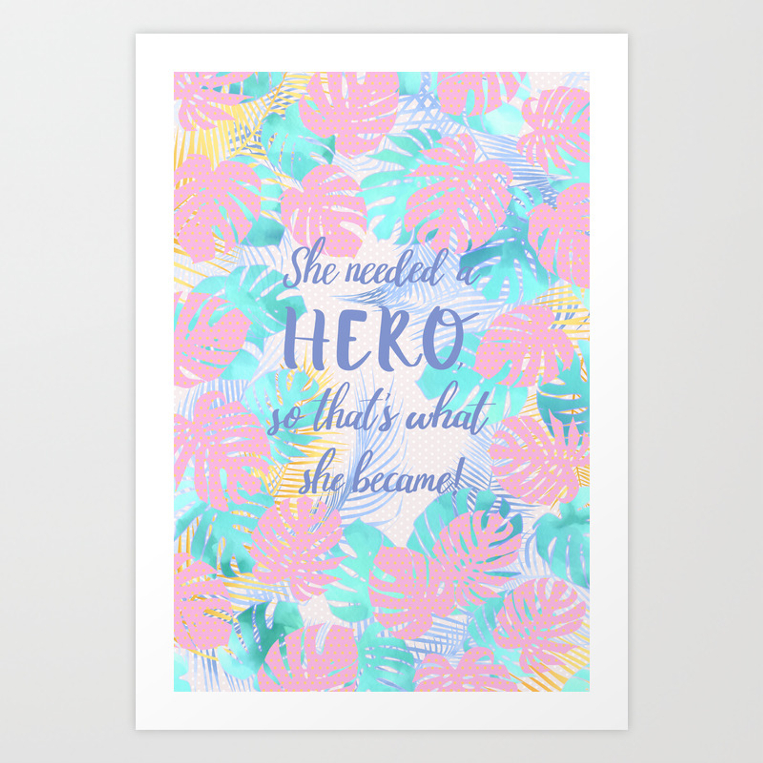 She Needed A Hero So That S What She Became Calligraphy On Pastel