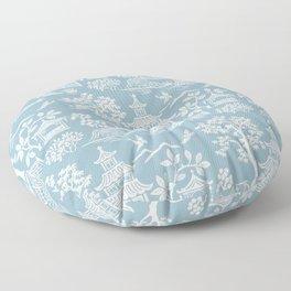 Chinoiserie Pagoda Light Blue Floor Pillow