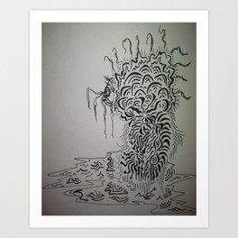 Ink Baby Doodle Art Print