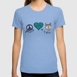 Peace Love & Cats T-shirt