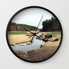 Golf Creek Winding Wall Clock