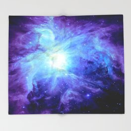 NEBula Purple Periwinkle Blue Throw Blanket