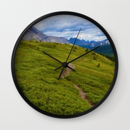 Views Along the Wilcox Pass Trail in Jasper National Park, Canada Wall Clock