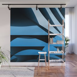 Blue Mystery Wall Mural