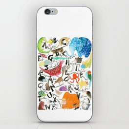 English Alphabet iPhone Skin
