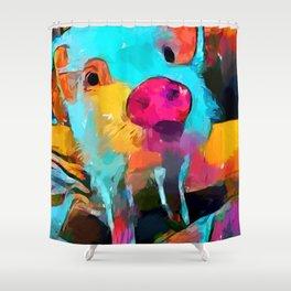 Mini Pig Shower Curtain
