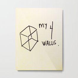 My 4 Walls Metal Print