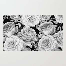 ROSES ON DARK BACKGROUND Rug