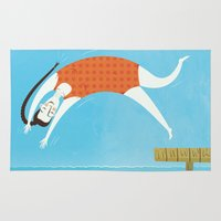 swim Area & Throw Rugs featuring Swim by Sally Townsend