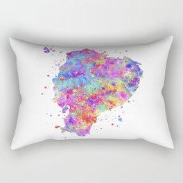 Ecuador Map Rectangular Pillow