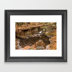 Swirling Bushkill Fall Stream Framed Art Print
