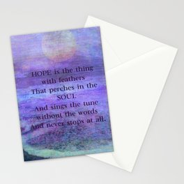Emily Dickinson hope soul quote Stationery Cards