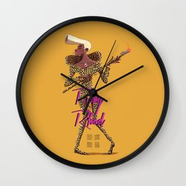Ruby Rhod Wall Clock