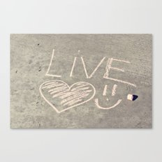 Live Love and Smile Often Canvas Print