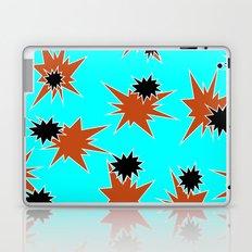 Stars (Orange & Black on Blue) Laptop & iPad Skin