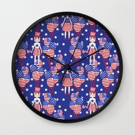 4th July Wall Clock