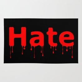Hate Blood Text Black Rug