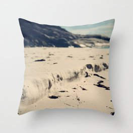 Sand Cliffs Throw Pillow