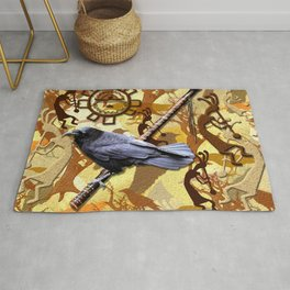 Kokopelli Raven - A Tribute to Music-lovers Rug