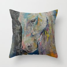 Hidden Heart Horse Throw Pillow