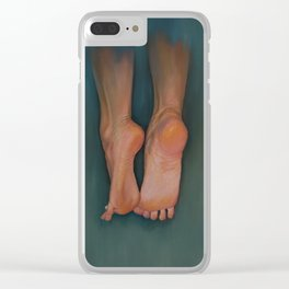 Flying Feet Clear iPhone Case