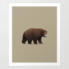 Geometric Bear - Modern Animal Art Art Print