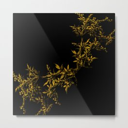 TREES VINES AND LEAVES OF GOLD Metal Print