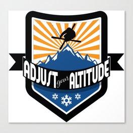 Adjust Your Altitude | Ski Series | DopeyArt Canvas Print