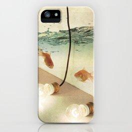 ideas and goldfish iPhone Case