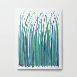 Blue Grasses Metal Print