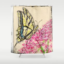 Collette's butterfly Shower Curtain