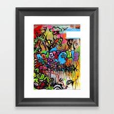 A Monster City Hello Framed Art Print