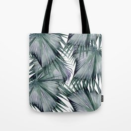 Tropical Leaves Green Tote Bag