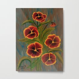 Pansies-2 Metal Print