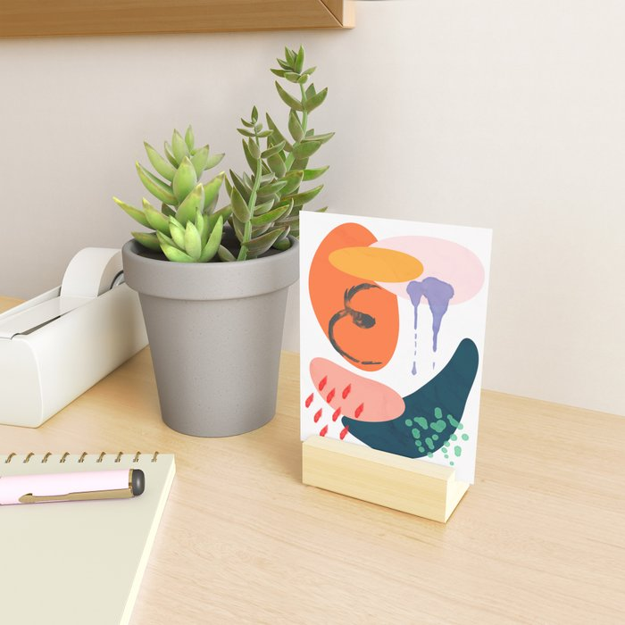 abstract dripping Mini Art Print