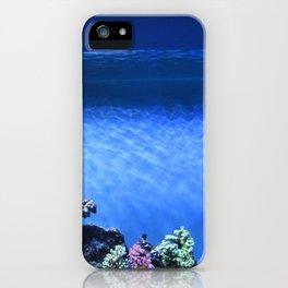 Fish in blue tank iPhone Case
