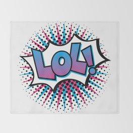 Pop Art LOL! Throw Blanket