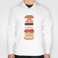 burger Hoodies featuring Burger by Andrew Mashanov