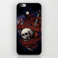 sherlock holmes iPhone & iPod Skins featuring Sherlock Holmes by Justyna Dorsz