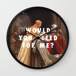 Edmund Leighton, God Speed (1900) / Halsey, Trouble (2014) Wall Clock